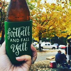 I LOVE seeing all your tailgate pics with your All She Wrote Notes coozies!! Thanks for the pic @mrslbhowell!! These are sold out for the season but cheers y'all and MERRY CHRISTMAS Y'ALL are both in stock and ready to ship to a party near you!! #allshewrotenotes #footballandfallyall by allshewrotenotes