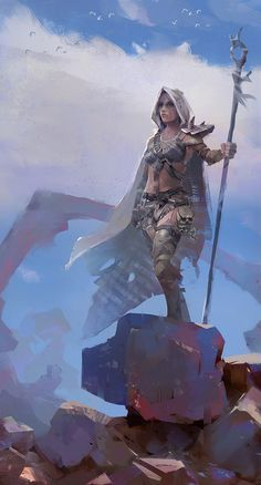 a collection of inspiration for settings, npcs, and pcs for my sci-fi and fantasy rpg games. Female Character Design, Character Concept, Character Art, Concept Art, Fantasy Women, Fantasy Girl, Fantasy Characters, Female Characters, Fantasy Weapons