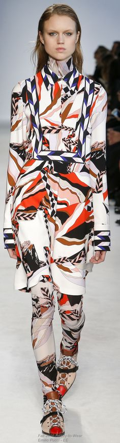 Fall 2016 Ready-to-Wear Emilio Pucci. #pattern #textiledsign #fashion