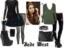 """""""Jade West"""" by smellmyfro ❤ liked on Polyvore"""
