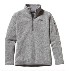 This Patagonia Women's Better Sweater® 1/4-Zip Fleece in Birch White combines the aesthetic of wool with the easy care of polyester fleece. - Made of warm, 10-oz 100% polyester fleece - Quarter-length
