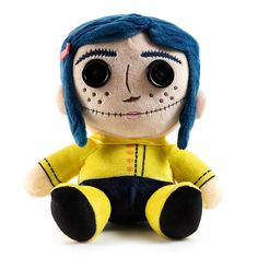 Based on Neil Gaiman's best-selling book, Coraline is a spectacular stop-motion animated adventure from Laika and The Nightmare Before Christmas director Henry Selick! Bring home a piece of its fun and spooky magic with this Coraline Phunny plu. Nightmare Before Christmas Director, Coraline Button Eyes, Coraline Doll, Found Object Art, Cute Plush, Stop Motion, Vinyl Figures, Plushies, Pet Toys