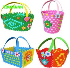 2016 hot 1 Piece Cute DIY Handmade Knitted Basket Eva Craft Kindergarten Toys for Kids Birthday Party Gift #>=#>=#>=#>=#> Click on the pin to check out discount price, color, size, shipping, etc. Save and like it!