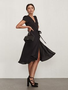 Adjustable dressing. The Linda Dress is yet another wrap dress you probably need. https://www.thereformation.com/products/linda-dress-black?utm_source=pinterest&utm_medium=organic&utm_campaign=PinterestOwnedPins