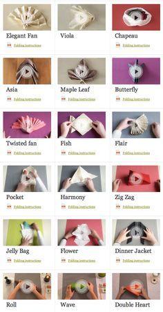 Tablescape Napkin Fold Ideas