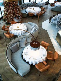 Restaurant Interior Design, Luxury Interior Design, Interior Architecture, Coffee Shop Design, Cafe Design, Back Bar Design, Industrial Cafe, Luxury Restaurant, Furniture Layout