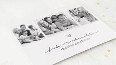Horizontale Klappkarte 148x105 - Weiß Polaroid Film, Cordial, Christmas Cards, Projects, Nice Asses