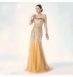 Luxus Meerjungfrau Abendkleid mit Kristalle