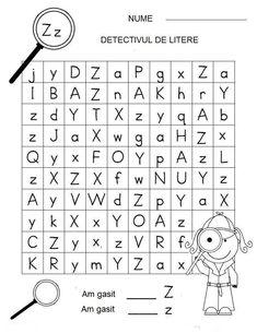 Letter Detectives Worksheets Aa to Zz Letter Worksheets, Kindergarten Worksheets, Games For Kids, Activities For Kids, Preschool Writing, Kids Education, Kids Learning, Detective, Homeschooling