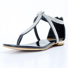 69.00$  Buy now - http://alir5c.worldwells.pw/go.php?t=32789118544 - Black Crystals Flip Flop Women Sandals Flat Heels Summer Shoes Flat Cover Heels Sapato Feminino Causal Style Flip Flops 2017 New 69.00$