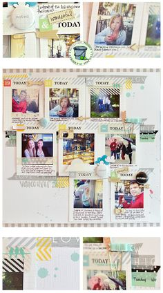 Love the idea of using multiple journaling cards on one page to document a trip
