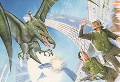 Paleofuture is my new favorite blog. US tax dollars funding a blog about early 20th century science and retrofuturism. Best! Also, I love this retro future depiction of a psycho chemical attack causing 1980s cold war soldiers to hallucinate a flying dinosaur.