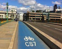 Protected cycle lane