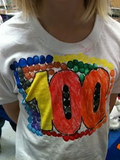 100th day shirts for the kids to make and ending the day with a BANG!