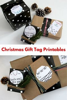 Here are some free swanky gift tag printables you can use for your gift wrapping this year!