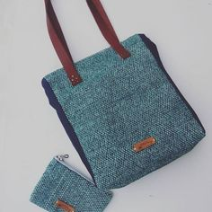 Sigo (bags & more) ( Go Bags, Handmade Accessories, Madewell, Hand Weaving, Etsy Shop, Turquoise, Purses, Tote Bag, Jeans