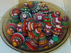 Polymer clay Christmas trees on oddsocks blog - LINK NO LONGER WORKS