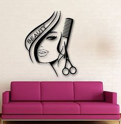 Newly Arrived Removbale Wall Stickers Vinyl Decor Hair Beauty Salon Barbershop Sexy Girl Wall Stickers Home Decoration -- You can get additional details at the image link. (This is an affiliate link and I receive a commission for the sales) Beauty Salon Decor, Beauty Salon Design, Hair And Beauty Salon, Hair Salon Interior, Salon Interior Design, Girls Wall Stickers, Wall Stickers Murals, Diy Stickers, Vinyl Decor