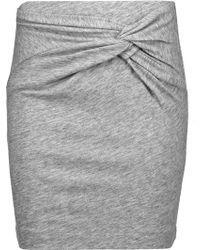 IRO | Louisa Twisted Slub Cotton-blend Mini Skirt | Lyst