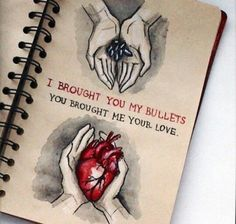 MCR Bullets era art: I brought you my bullets, you brought me your love.