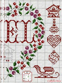 Christmas and New Year.  embroidery schemes.