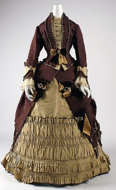 """""""Book Outfits ~ Sandy Browns are Timeless: Alexia"""" 1872 Visiting Dress  Emile Pingat  The Metropolitan Museum of Art. Parasol Protectorate"""