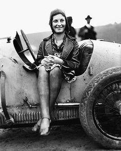 Bugatti racer girl