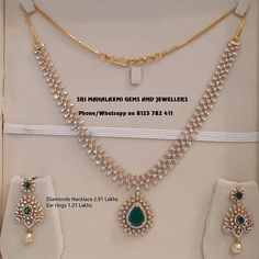 Get best Diamond necklaces at true value for money prices. Presenting IGI Certifed VVS EF finest quality Diamonds necklace Lakhs including changeable pcs and Ear rings Lakhs Visit for best designs at most attractive prices. Contact no 8125 782 411 . Jhumka Designs, Gold Earrings Designs, Gold Jewellery Design, Necklace Designs, Diamond Jewellery, India Jewelry, Jewellery Shops, Diamond Mangalsutra, Punk Jewelry