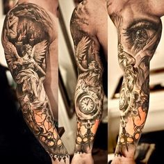 Sleeve tattoos ideas designs for men | Like Tattoo...this looks awesome