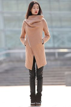 winter jackets for women brown wool coatCF042 by YL1dress on Etsy