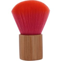 Red Bamboo Handle Makeup Powder Brush (180 RUB) ❤ liked on Polyvore featuring beauty products, makeup, makeup tools, makeup brushes, makeup powder brush and powder brush