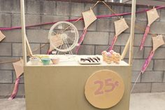 ice cream stand birthday party