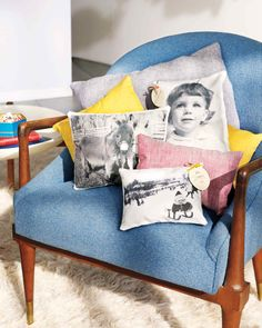 Turn a photo into a throw pillow with ingenious paper-backed linen that feeds into home printers.