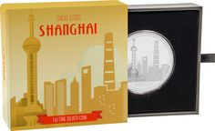 Great Cities Collection - Shanghai Silver Coin by NZ Mint Shanghai Skyline, Coin Collecting, Silver Coins, City, Collection, Silver Quarters, Cities