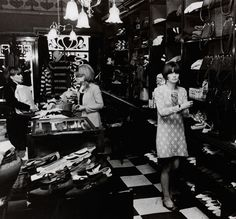 Mod girl at Biba Boutique, London, photo by Philip Townsend, 1964