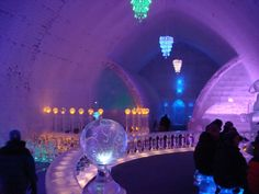 Aurora Ice Hotel at Chena Hot Springs just outside of Fairbanks, Alaska