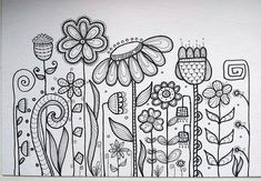 Flower doodle patterns doodle art, drawings y doodles Doodle Patterns, Zentangle Patterns, Embroidery Patterns, Paper Embroidery, Doodle Designs, Flower Embroidery, Doodles Zentangles, Doodling Art, Sharpie Doodles