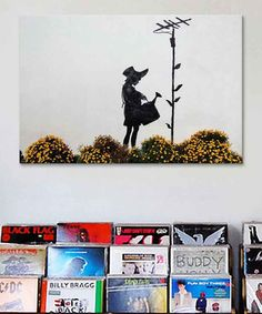 Look at this Flower Aerial Graffiti Replica Gallery-Wrapped Canvas on #zulily today!