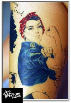 The Tattoo Palace > Work > Tattoo by Corry. Rosie the riveter pin up girl. by Corry (The Boss!)