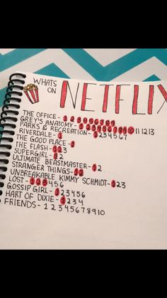 "My ""what's on Netflix"" page"
