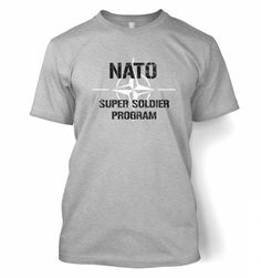 Science Tshirts By Something Geeky Mens NATO Super Soldier Program T-shirt