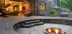 awesome firepit and back yard