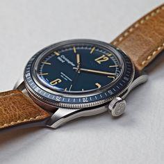 C65 Trident Diver - Blue - Camel - Christopher Ward