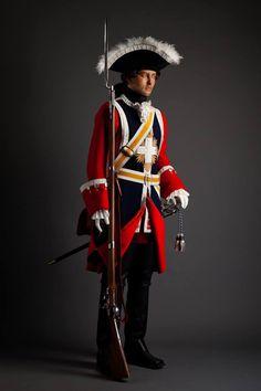 Mousquetaire à cheval, 2e compagnie, Dettingen, 27 Juin 1743