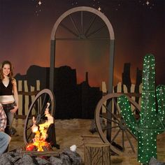 Home on the Range Wagon Wheel Arch Kit-Prom Decorations
