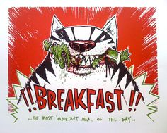 Breakfast (Silkscreen Signed Limited Edition of 25) by Mark Hooley