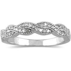 SI/G 1/3CT Diamond Infinity Wedding Womens Anniversary Band Ring 14K White Gold