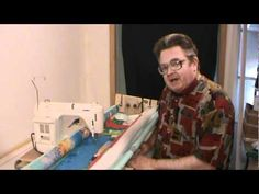 Machine quilt frame setup and operation Part 1 of 4 Longarm Quilting, Free Motion Quilting, Quilting Tips, Quilting Tutorials, Quilting Projects, Diy Quilting Frame For Sewing Machine, Machine Quilting, Scrap Quilt Patterns, Quilting Frames