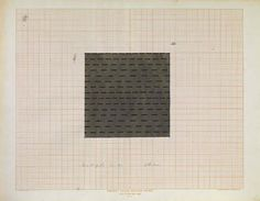 Dan Christensen   Study for 75 Inch Square Painting, 1967   (Acrylic and ink on graph paper, 18 x 23 inches)   Spanierman Gallery, NYC  ==============  Click for more information