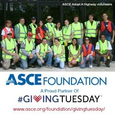 ASCE staff gives their time to support our community and donate generously for a variety reasons to the ASCE Foundation on @#GivingTuesday . Join ASCE staff in reaching our $3,000 goal this year! Why Are You Giving? #GiveToServe